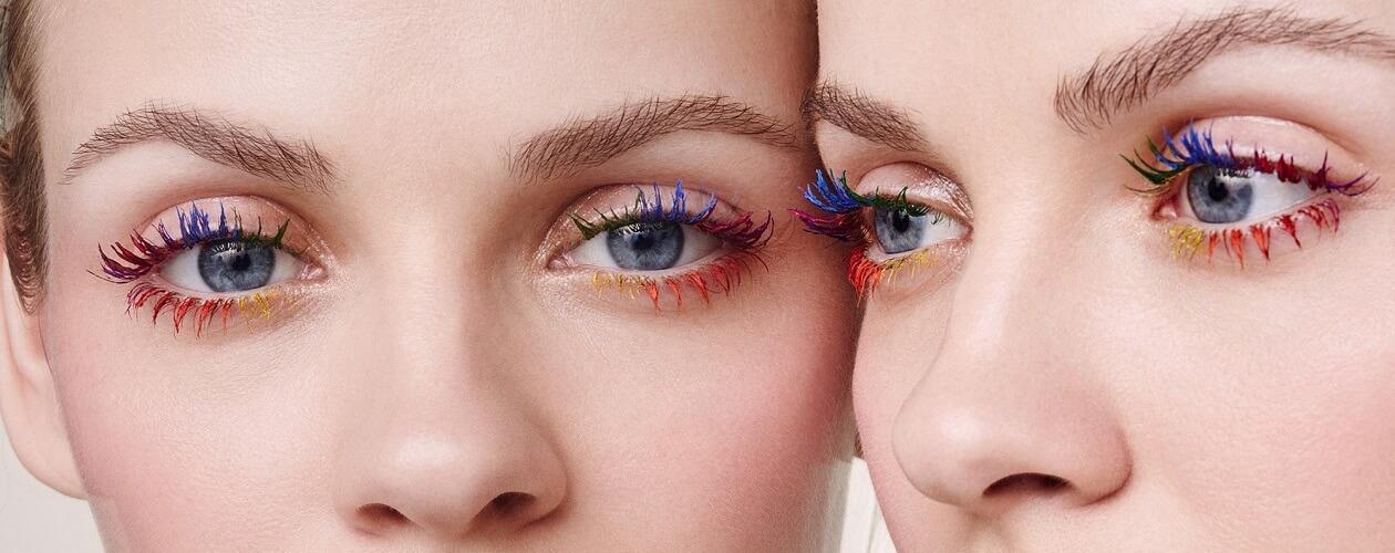Цветная тушь в макияже
